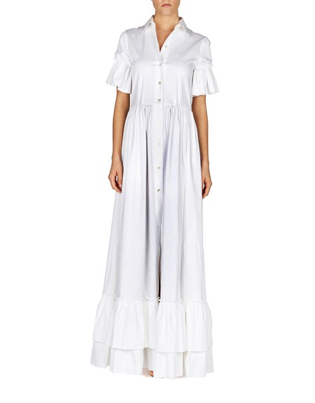 Ruffled Cotton Maxi Dress