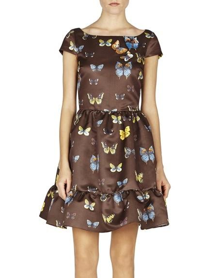 Sequin-embellished Duchesse Printed Mini Dress