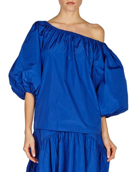 Ballon-sleeve Off The Shoulder Top