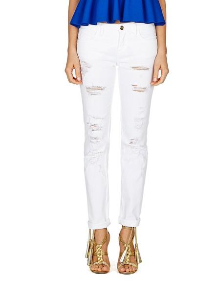 Distressed Cotton Pants