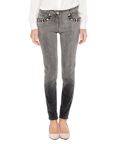 Skinny-Jeans in Degradé-Optik