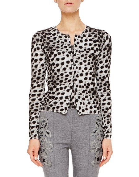 Twin-Set aus Spandex mit Animal-Print