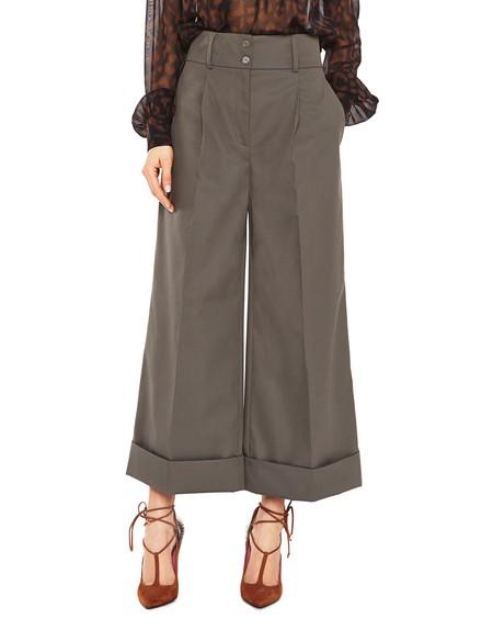 Cropped Hose aus Baumwoll-Polyester-Mischgewebe