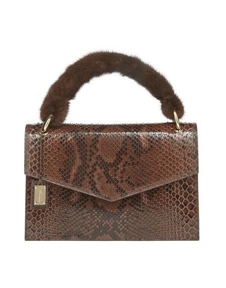 Handtasche aus Python mit Nerz