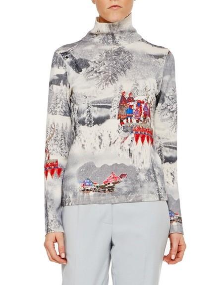 Pullover aus Spandex mit Alaska-Print