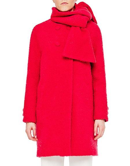 Mantel aus Wollbouclé