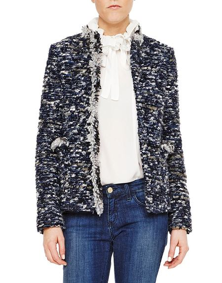 Fringed Bouclé Jacket