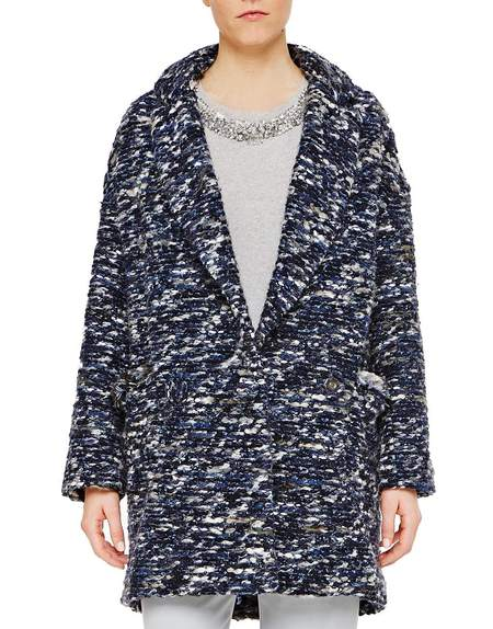 Fringed Over-sized Bouclé Coat