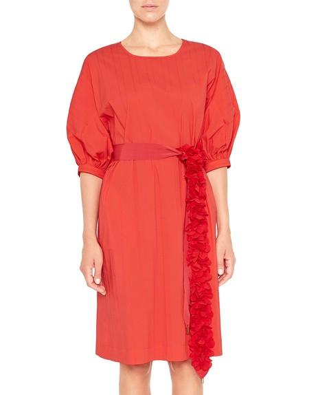 Хлопчатобумажное платье с рифленым эффектом