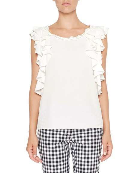 Crêpe de Chine Blouse With Ruching