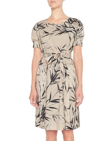 Хлопчатобумажное платье с бамбуковым принтом