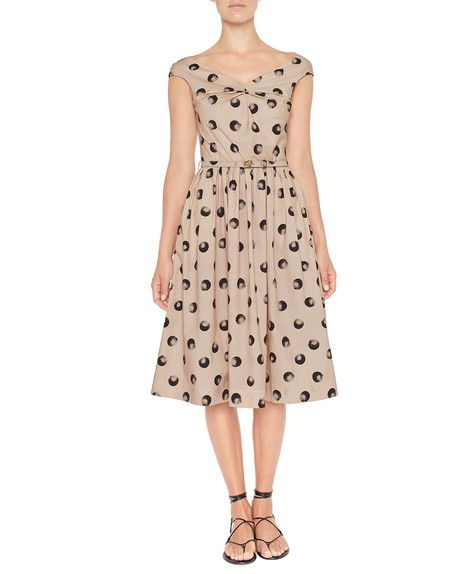 Vestido de algodón con estampado de lunares
