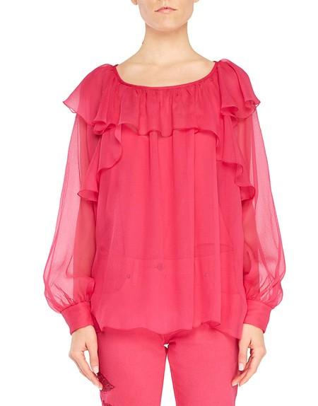 Блузка из шёлкового шифона