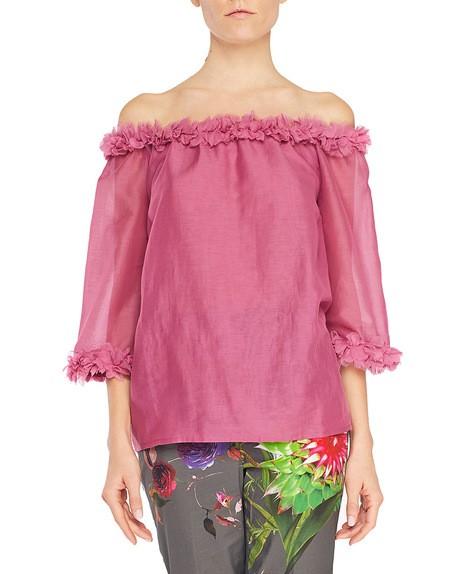 Блузка из хлопкового муслина