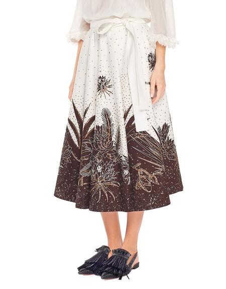 Falda de algodón con bordado