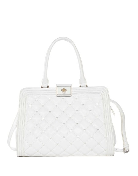 Quilted Eco-leather Boston Bag