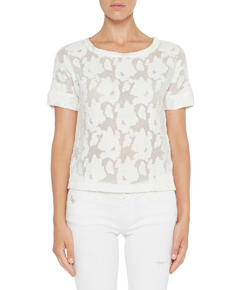 Blusa in Pizzo Floreale