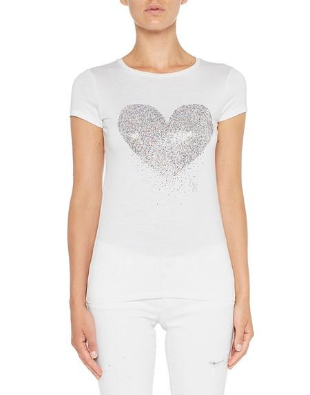 Camiseta de punto con corazón
