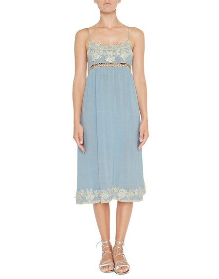 Kleid aus Viskose mit Spitze