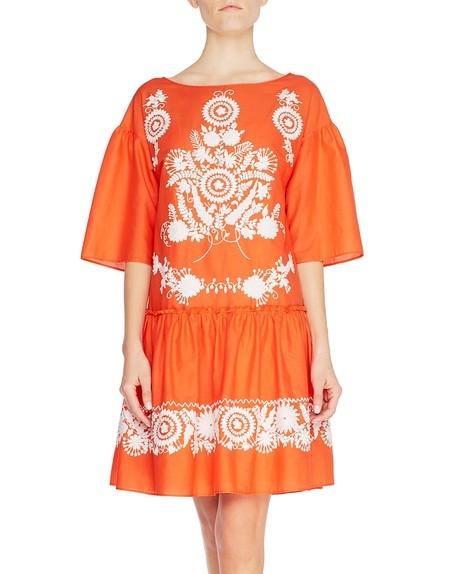 Kleid aus Baumwolle mit folkloristischer Stickerei