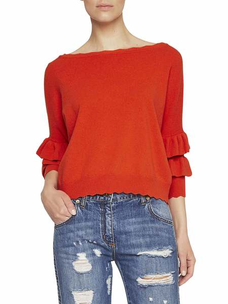 Knit Blouse With Ruching