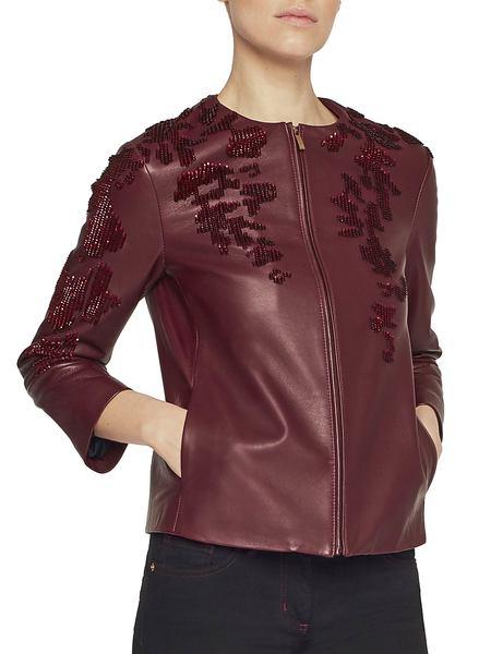 Куртка Из Наппы С Вышивкой