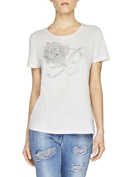 Camiseta De Algodón Con Bordado