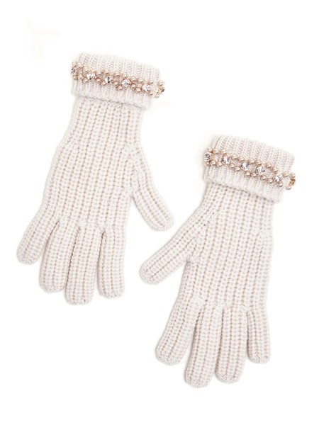 Woollen Gloves With Embroidery