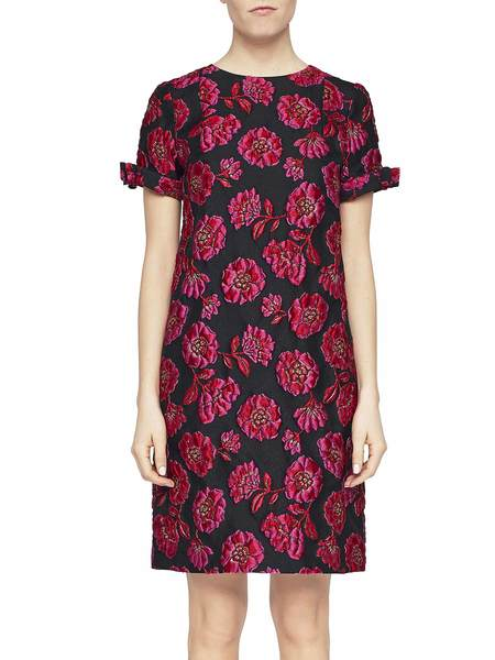 Jacquard Dress With Peonies