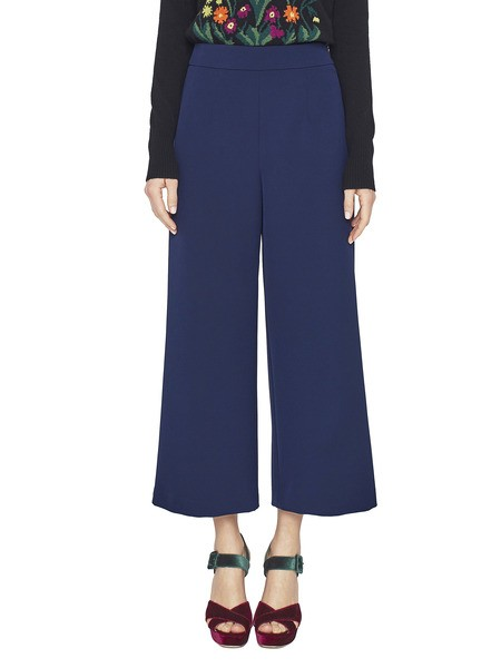 Cropped Twill Trousers