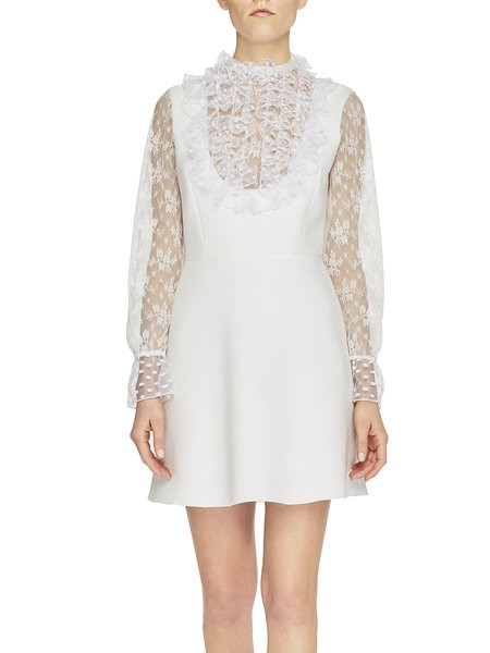 Twill And Lace Dress