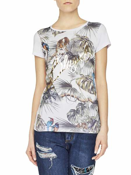 Jungle Print Stretch Jersey T-Shirt