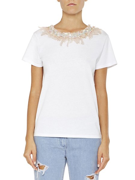 T-shirt with appliqués