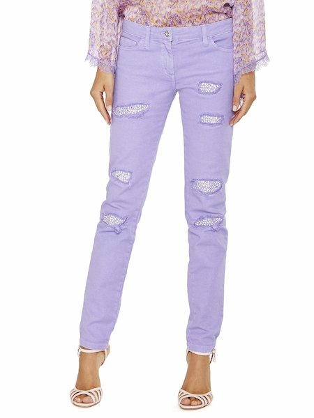 Jeans Con Strass