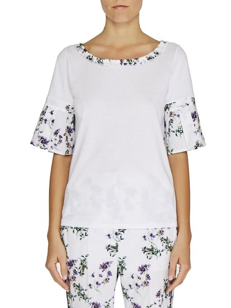 Camiseta con estampado de anémonas