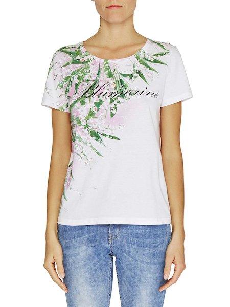 Camiseta con estampado de lirios