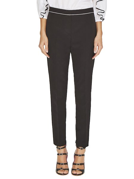 Trousers with contrast trim