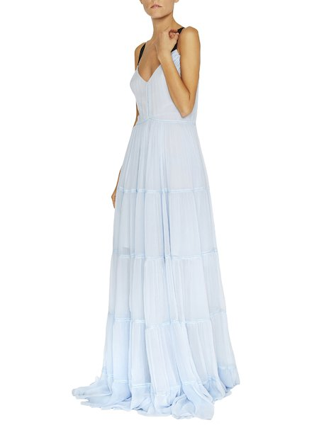 Maxi dress with frills