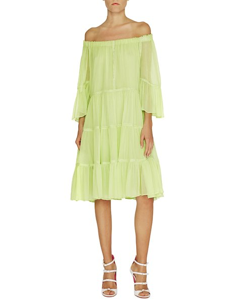 Dress with frills - Green - 1 ...