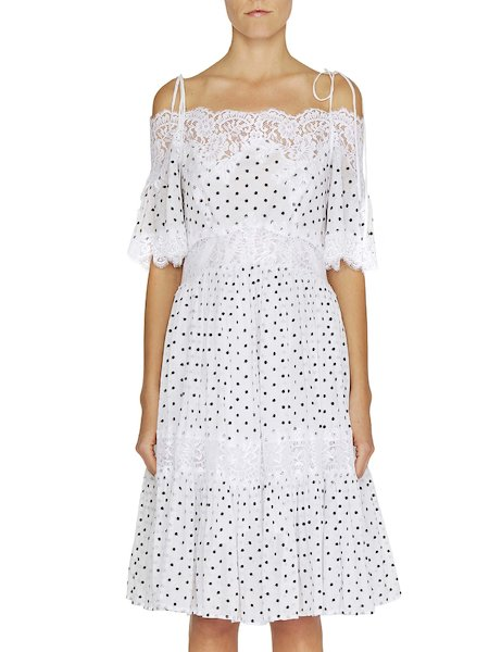 Polka dot dress with lace