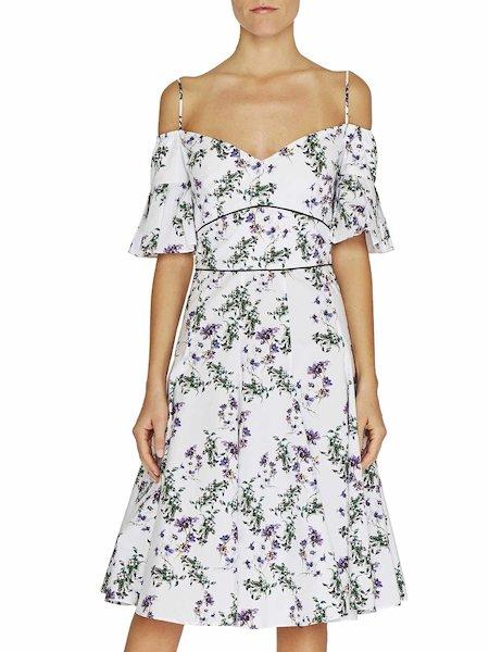 Anemone print dress