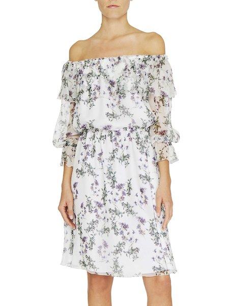 Anemone print silk dress