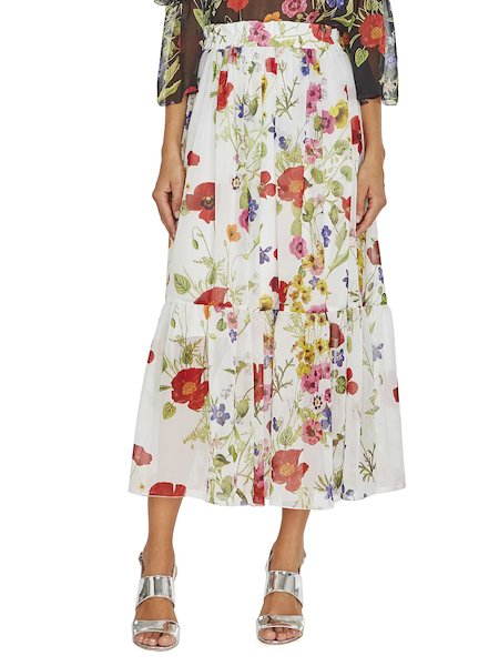 Midi skirt with print
