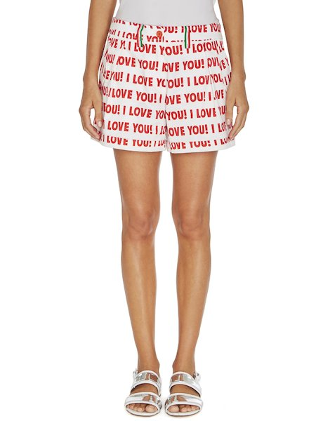 Short à imprimé « I love you »