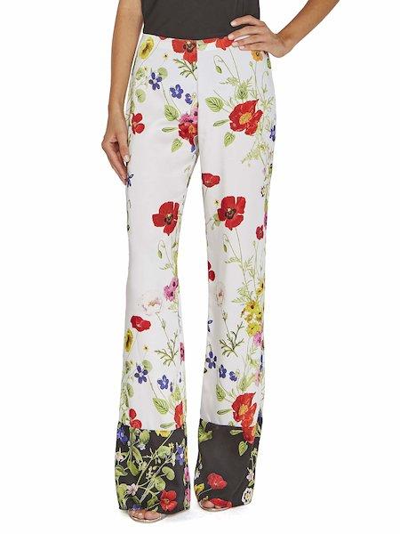 Pantalones «palazzo» con estampado de flores