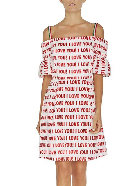 Robe à imprimé « I love you »