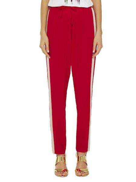 Pantalon avec bandes en contraste