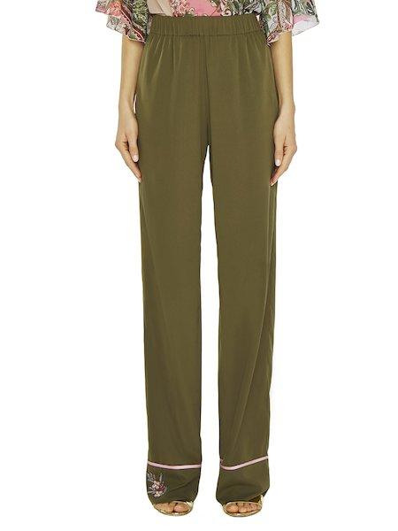 Pantaloni-pigiama Con Ricamo