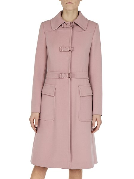 Overcoat with grosgrain bows