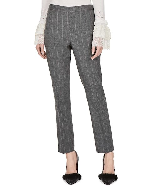 Trousers with lurex pinstripe.